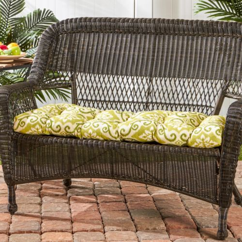 Greendale Home Fashions Outdoor Porch Swing or Bench Cushion – Short