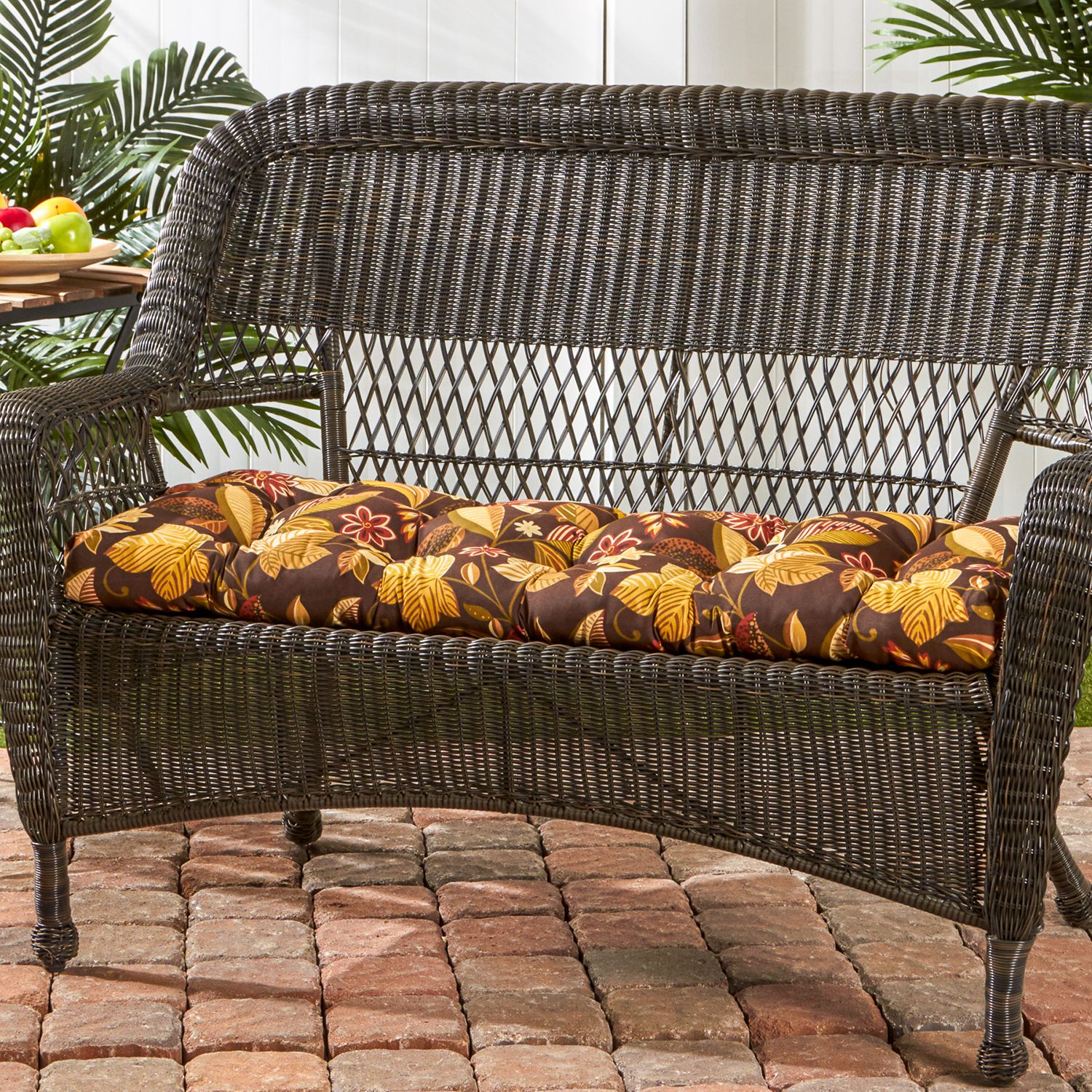 Nice Greendale Home Fashions Outdoor Porch Swing or Bench Cushion Short