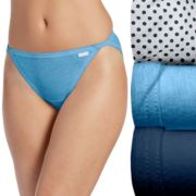 Jockey Elance 3-pk String Bikini Panties 1483 - Women's