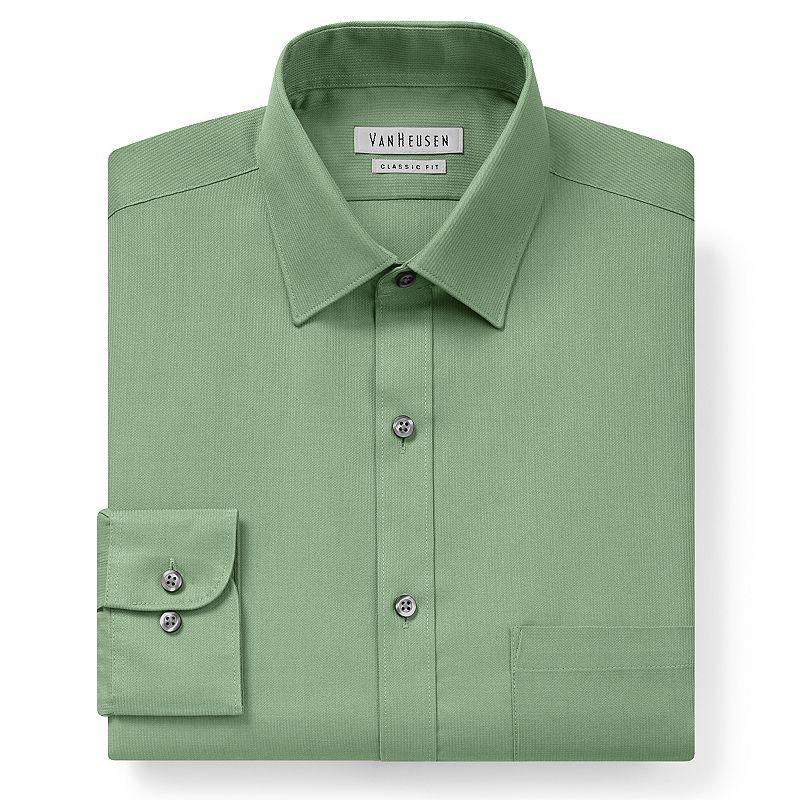 Mens green dress shirt kohl 39 s for Van heusen men s regular fit pincord dress shirt