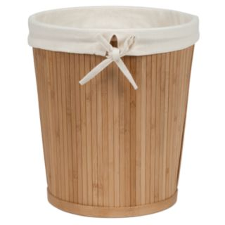 Creative Ware Home Lined Bamboo Wastebasket