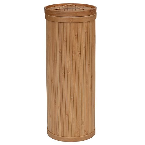 Creative Ware Home Upright 3-Roll Bamboo Toilet Paper Holder