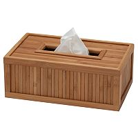 Creative Ware Home Flat Bamboo Tissue Box