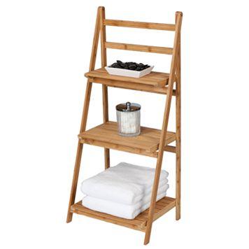 Creative Ware Home 3-Shelf Bamboo Folding Tower