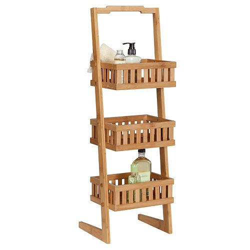 Creative Ware Home 3-Tier Bamboo Vanity Caddy