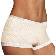 Maidenform Microfiber Lace-Trim Boyshorts 40760 - Women's