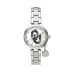 Sparo Charm Watch - Women's Oklahoma Sooners Stainless Steel