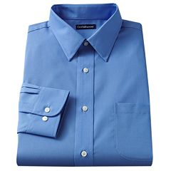 Men's Croft & Barrow® Slim-Fit Solid Easy Care Point-Collar Dress Shirt