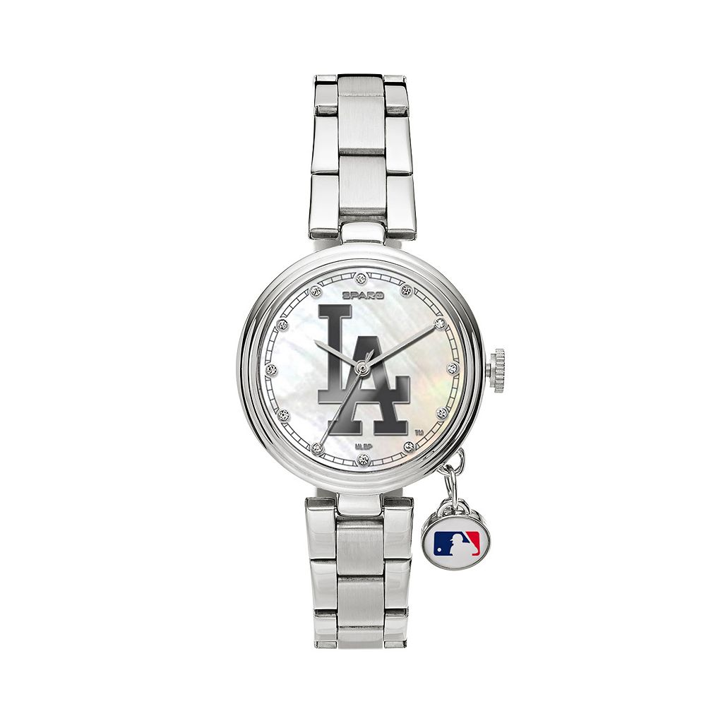 Sparo Charm Watch - Women's Los Angeles Dodgers Stainless Steel