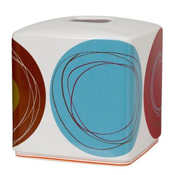 Creative Bath Dot Swirl Tissue Cover