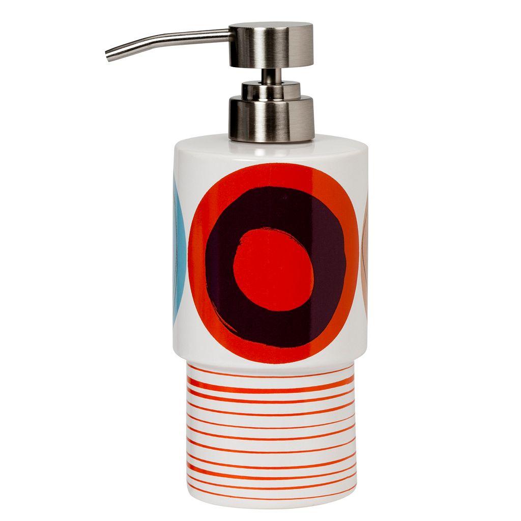 Creative Bath Dot Swirl Red Lotion Pump