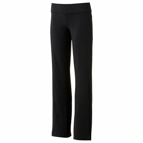 8b8248c95b Juniors' SO® Fold-Over Bootcut Yoga Pants