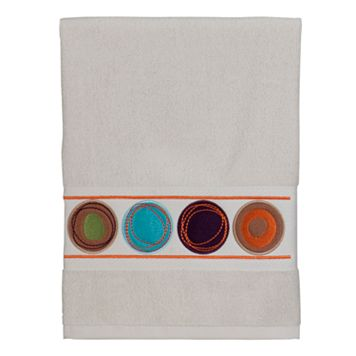 Creative Bath Dot Swirl White Hand Towel