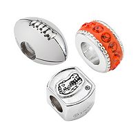 LogoArt Florida Gators Sterling Silver Crystal Bead Set