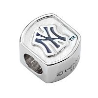 New York Yankees Sterling Silver Bead