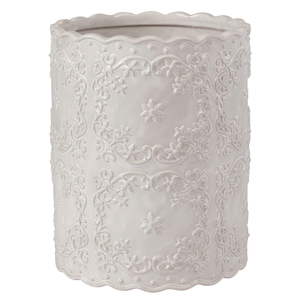Creative Bath Scalloped Wastebasket