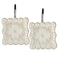 Creative Bath Scalloped 12-pk. Shower Curtain Hooks