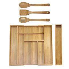 Oceanstar 5-pc. Bamboo Expandable Drawer Utensil Organizer Set