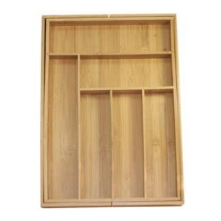 Oceanstar 5-pc. Bamboo Expandable Drawer Utensil Organizer Set