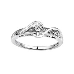 Simply Vera Vera Wang Diamond Wrap Engagement Ring in 14k White Gold (1/7 ctT.W.)