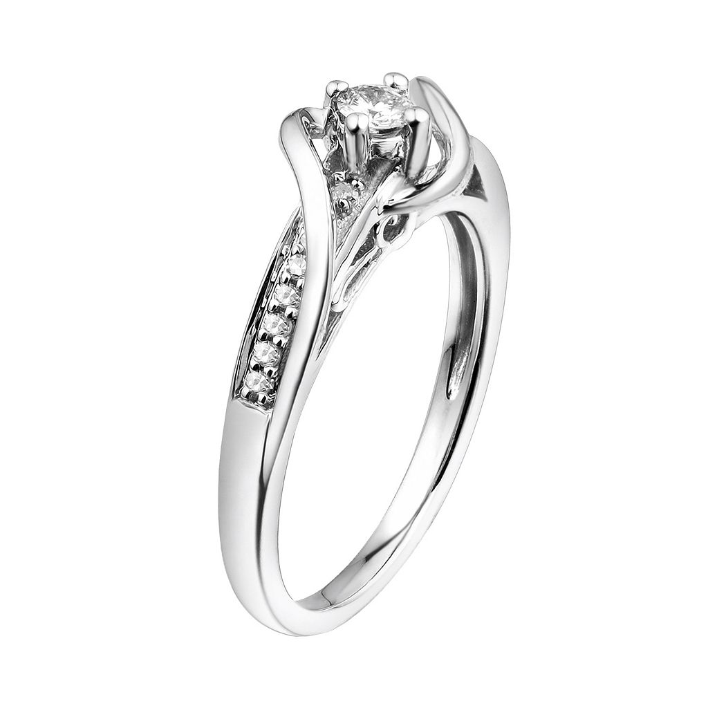 Simply Vera Vera Wang Diamond Wrap Engagement Ring in 14k White Gold (1/7 ct. T.W.)