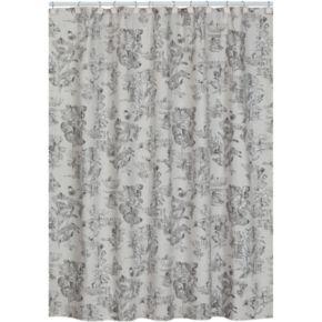 Creative Bath Sketchbook Fabric Shower Curtain