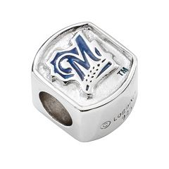 LogoArt Milwaukee Brewers Sterling Silver Bead