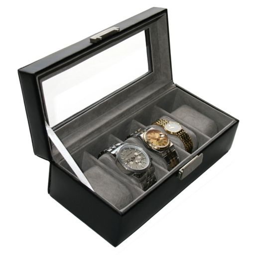 Royce Leather 5-Slot Watch Box