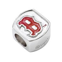 LogoArt Boston Red Sox Sterling Silver Bead