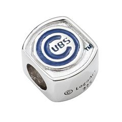 LogoArt Chicago Cubs Sterling Silver Bead