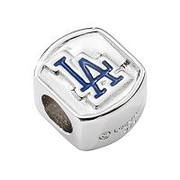 LogoArt Los Angeles Dodgers Sterling Silver Bead
