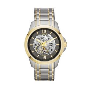 Relic by Fossil Men's Two Tone Stainless Steel Automatic Skeleton Watch