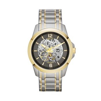 Relic Mens Two Tone Stainless Steel Automatic Skeleton Watch