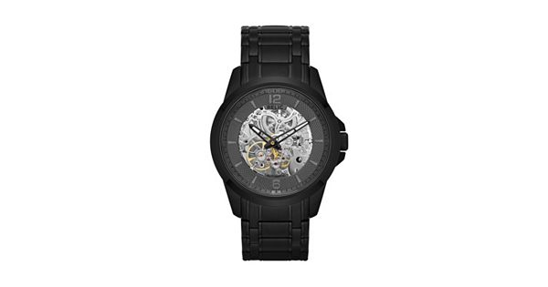 Relic Men S Stainless Steel Automatic Skeleton Watch