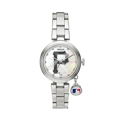 Sparo Charm Watch - Women's Pittsburgh Pirates Stainless Steel