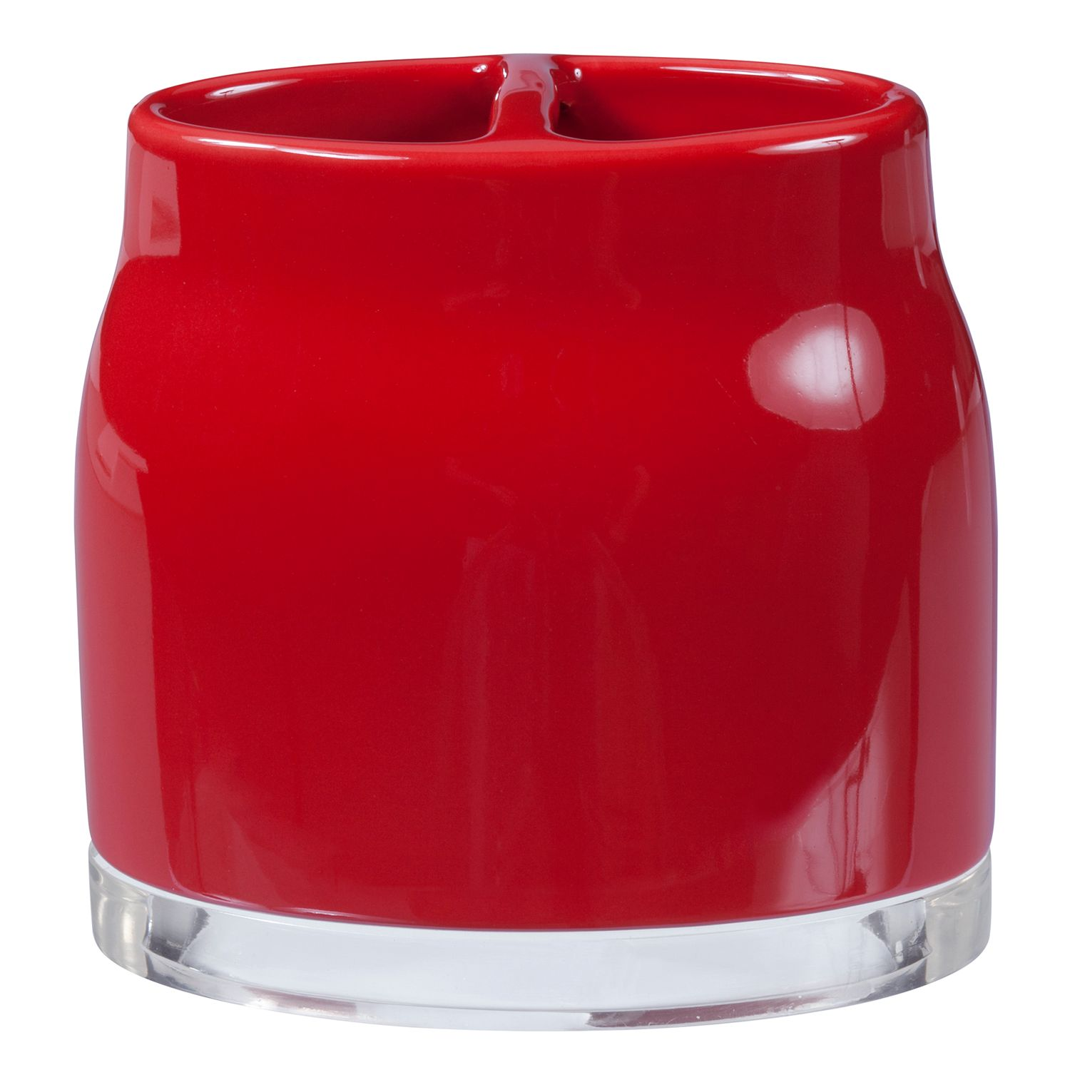 Creative Bath Gem Toothbrush Holder. Red Turquoise White