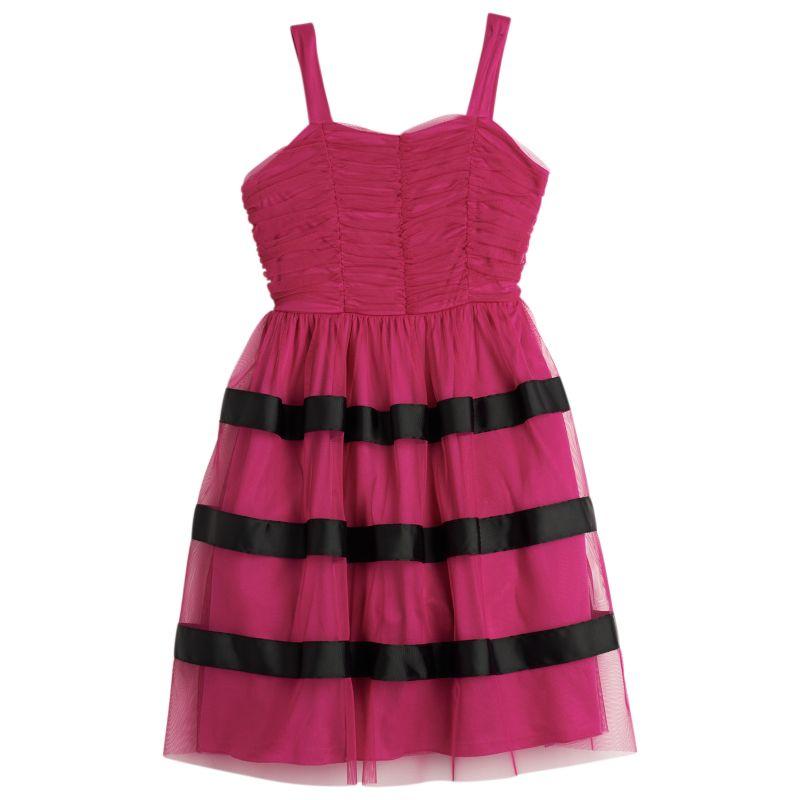 Speechless Striped Tulle Dress - Girls 7-16