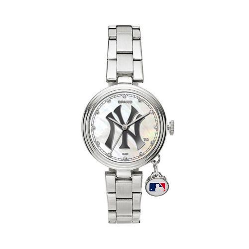 Sparo Charm Watch - Women's New York Yankees Stainless Steel