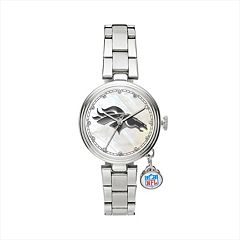 Sparo Charm Watch - Women's Denver Broncos Stainless Steel
