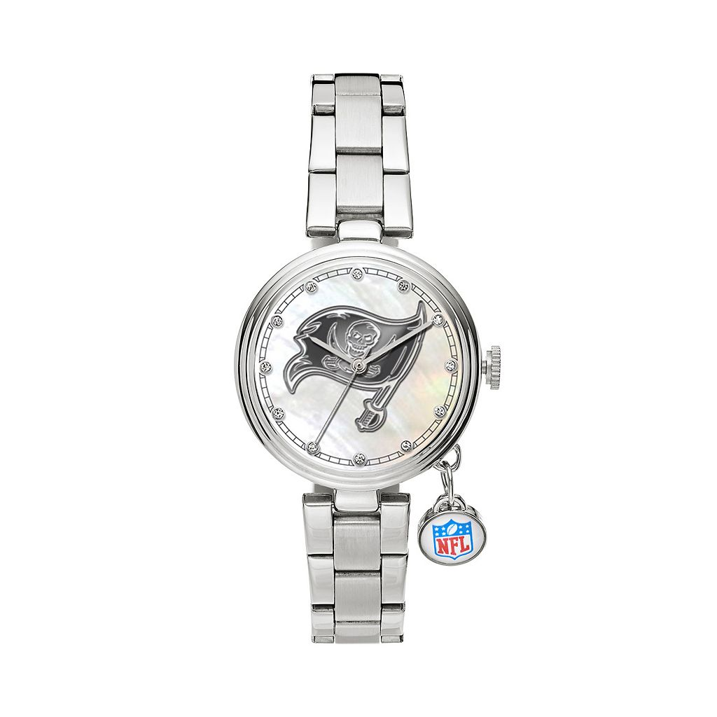 Sparo Charm Watch - Women's Tampa Bay Buccaneers Stainless Steel
