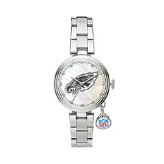 Sparo Charm Watch - Women's Philadelphia Eagles Stainless Steel