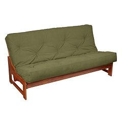 6-in. Faux Suede Futon Mattress