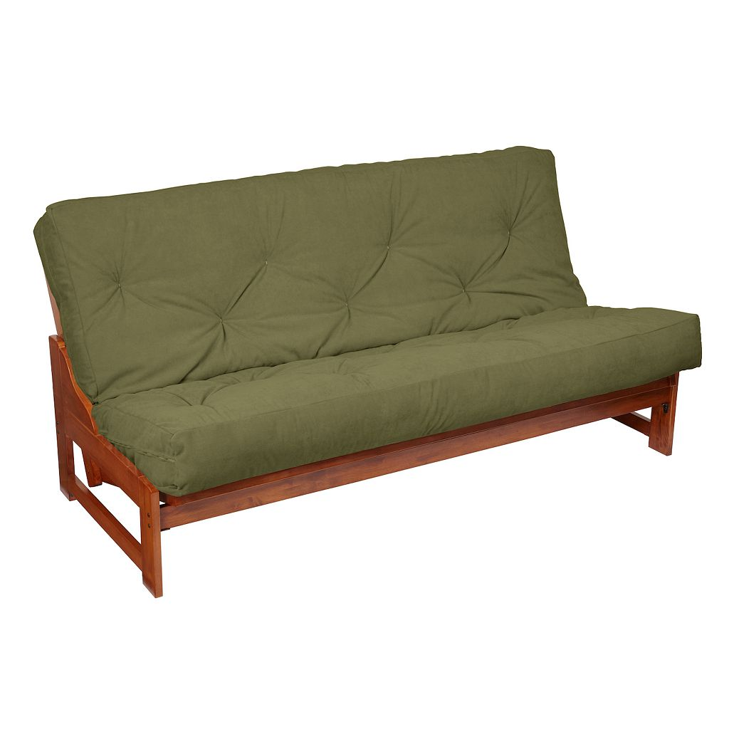 8-in. Faux Suede Futon Mattress
