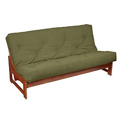 8 in Faux Suede Futon Mattress