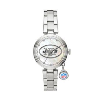 Sparo Charm Watch - Women's New York Jets Stainless Steel