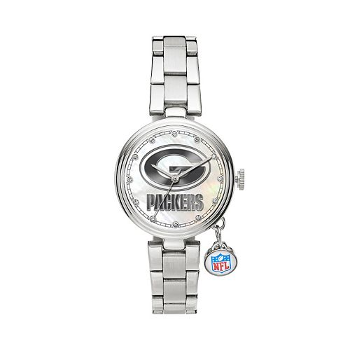 Sparo Charm Watch - Women's Green Bay Packers Stainless Steel