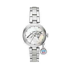 Sparo Charm Watch - Women's Carolina Panthers Stainless Steel