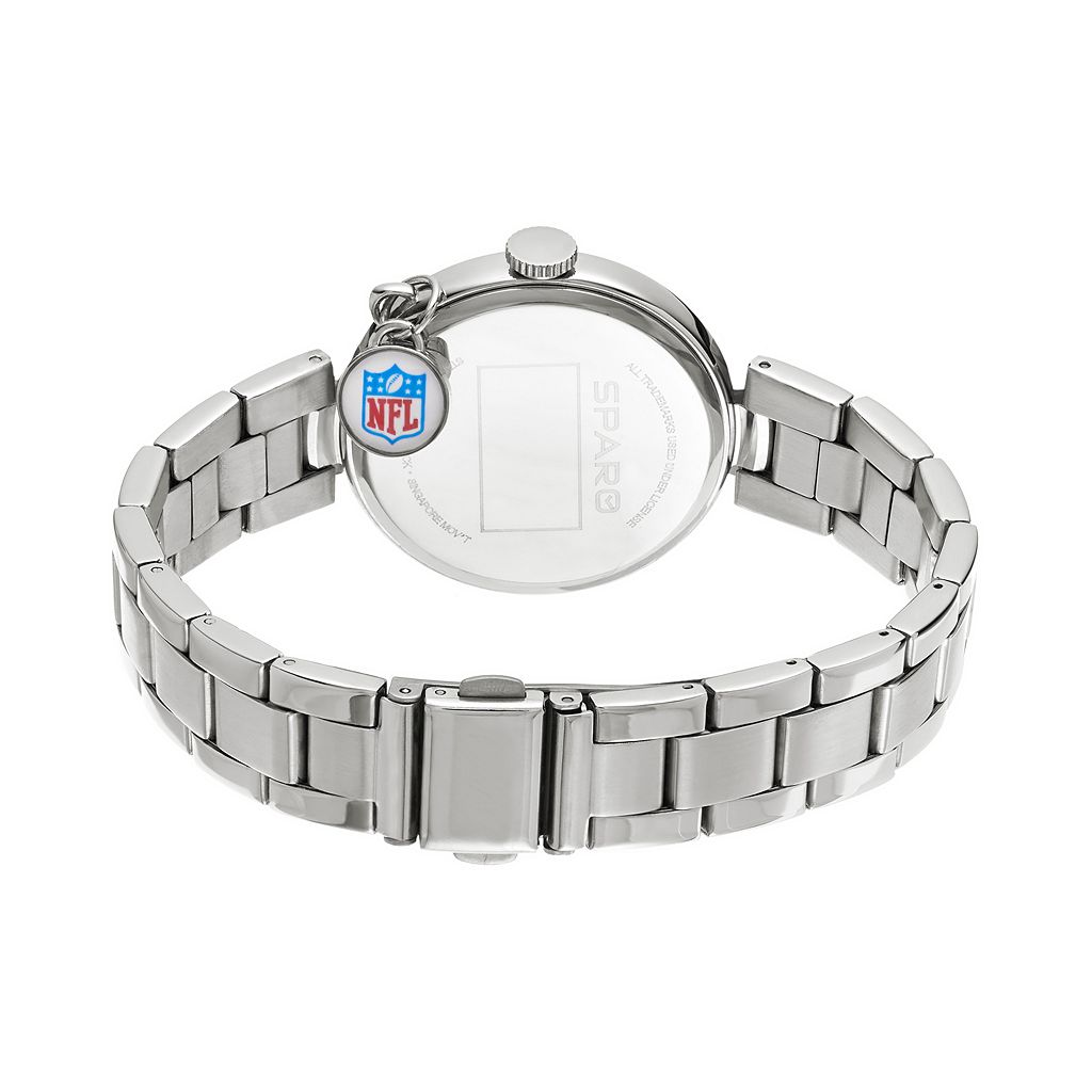 Sparo Charm Watch - Women's New England Patriots Stainless Steel