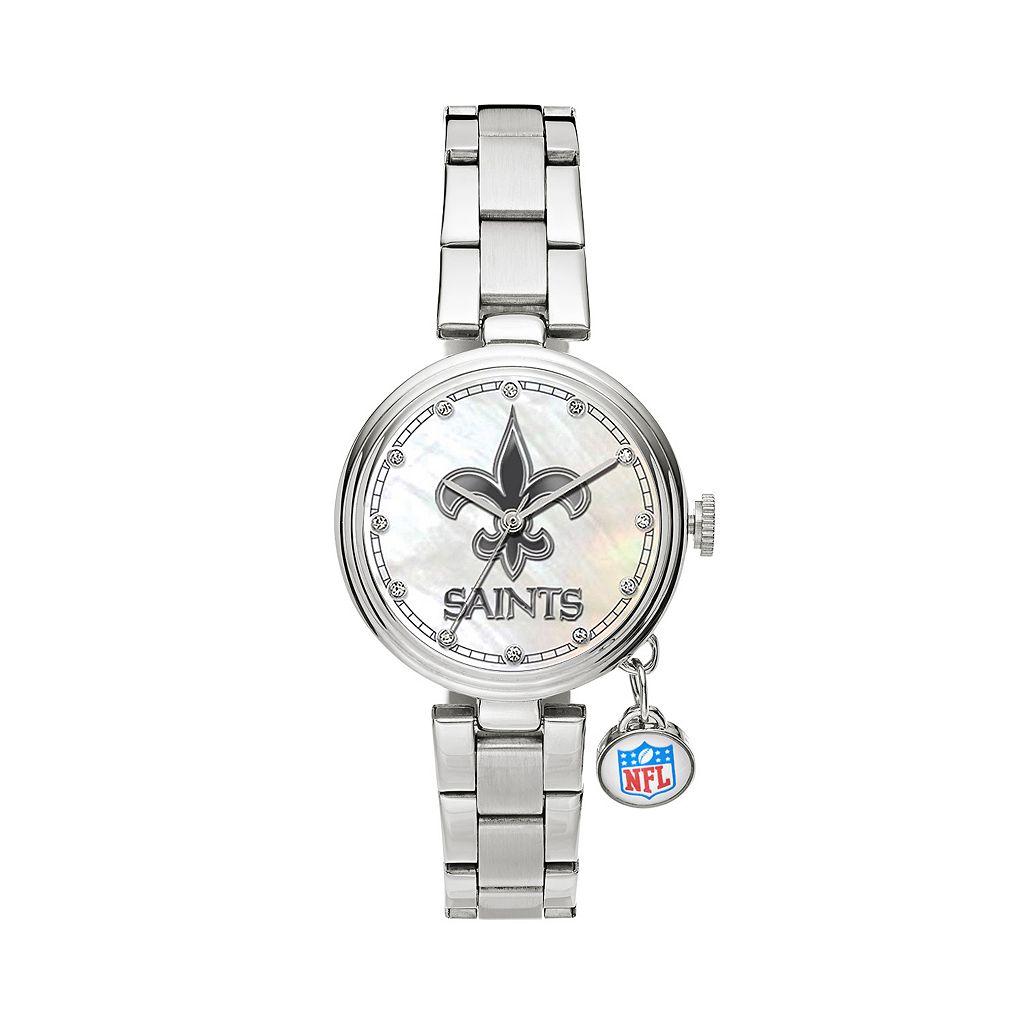 Sparo Charm Watch - Women's New Orleans Saints Stainless Steel