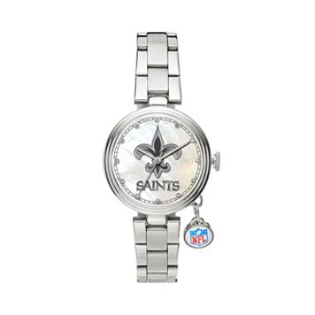 Sparo Charm Watch - Women's New Orleans Saints Stainless Steel